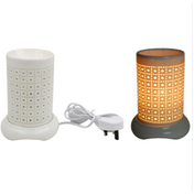 White Dots and Squares Aroma Lamp With Dimmer By Lesser & Pavey (UK Plug)
