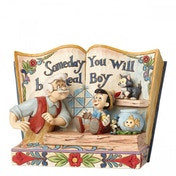 (Damaged Packaging) Disney Traditions Someday You Will Be A Real Boy Storybook Pinocchio Figurine