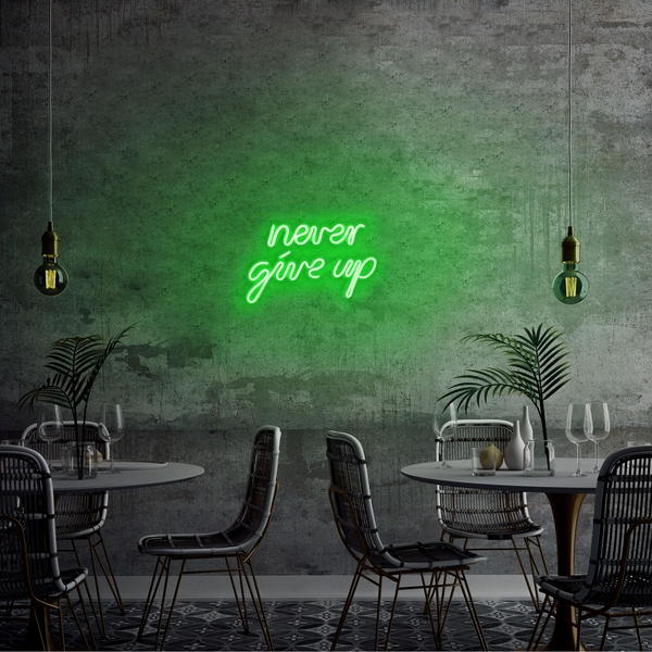 Never Give Up - Green Green Wall Lamp