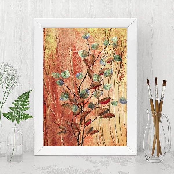 BC11677165091 Multicolor Decorative Framed MDF Painting