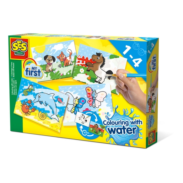 SES Creative - Children's My First Colouring with Water Set 1- 4 Years (Multi-colour)