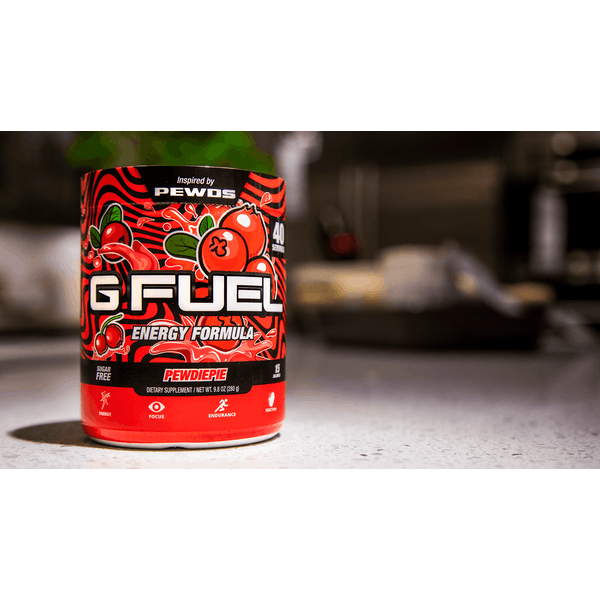G Fuel Pewdiepie Lingonberry Tub (40 Servings) Elite Energy and Endurance Formula - Image 1
