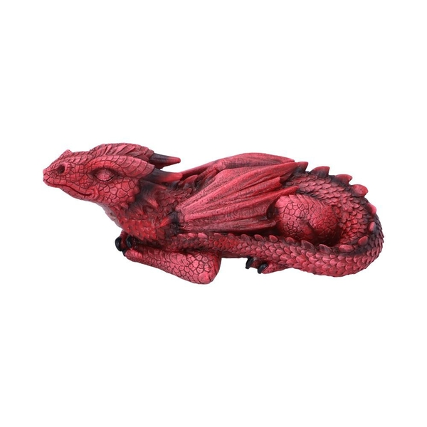 Ruby Dreaming Sleeping Red Dragon Figurine