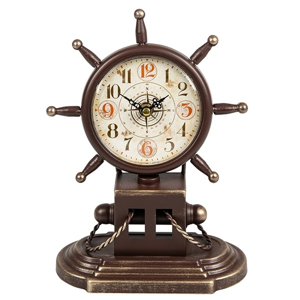 Past Times Ships Wheel Clock