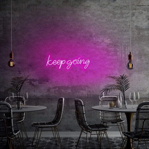 Keep Going - Pink Pink Wall Lamp