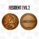 Lion Resident Evil 2 Limited Edition Metal Replica R.P.D. Medallion - Image 2