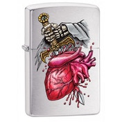 Zippo Gothic Stabbed Heart Classic Brushed Chrome