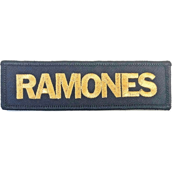 Ramones - Gold Logo Standard Patch