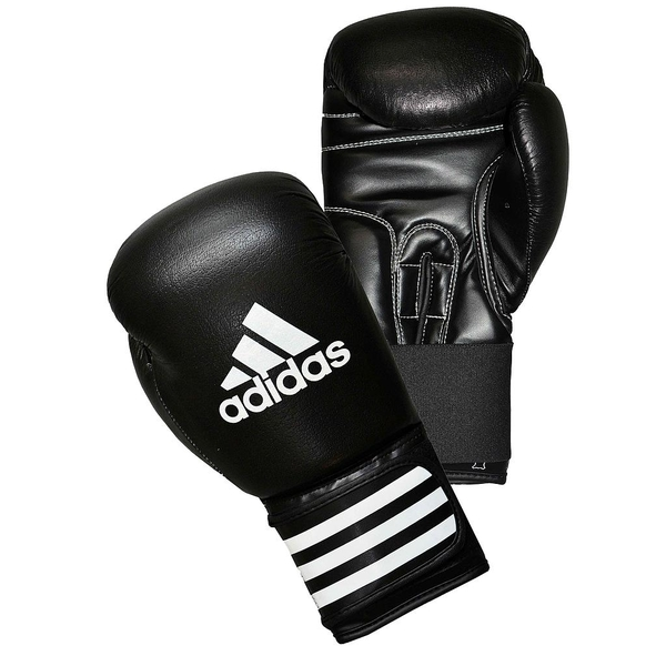 Adidas Performer Leather Boxing Gloves Black 12oz