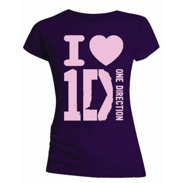 One Direction - I Love Women's Medium T-Shirt - Purple