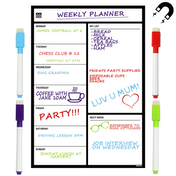 A3 Magnetic Whiteboard Fridge Calendar Planner Dry Erase M&W Weekly Planner
