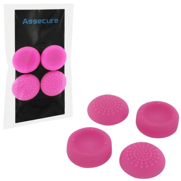 PS4 Silicone Thumb Grips Concave & amp; Convex Pink Assecure