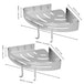Adhesive Corner Shower Caddy | M&W 2 Tier - Image 5