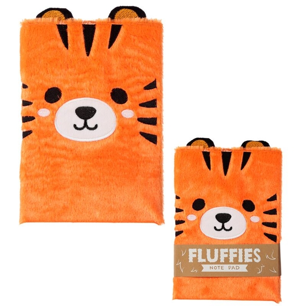 Cute Tiger Design Fluffy Plush Notebook