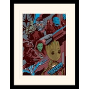 Guardians Of The Galaxy Vol. 2 - Galactic Mounted & Framed 30 x 40cm Print