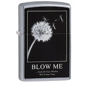 Zippo Wishes Street Chrome Finish Windproof Lighter