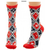Harley Quinn - Diamonds Knitted Socks (One size)