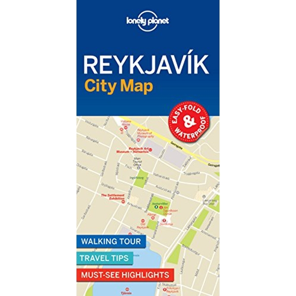 Lonely Planet Reykjavik City Map  Sheet map, folded 2018