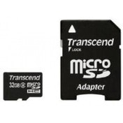 Transcend 32GB MicroSDHC Flash Card with Adaptor (Class 10)