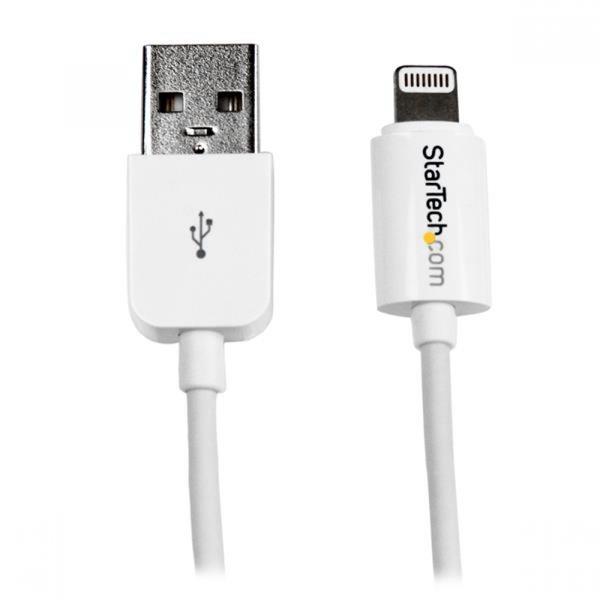 StarTech 3m White Apple 8-pin Lightning Connector to USB Cable (White) for iPhone / iPod / iPad