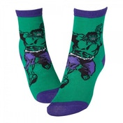 Marvel Comics The Incredible Hulk Adult Male Smash Crew Socks 39/42 (Green)