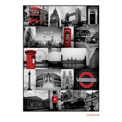 London - Red Collage Maxi Poster
