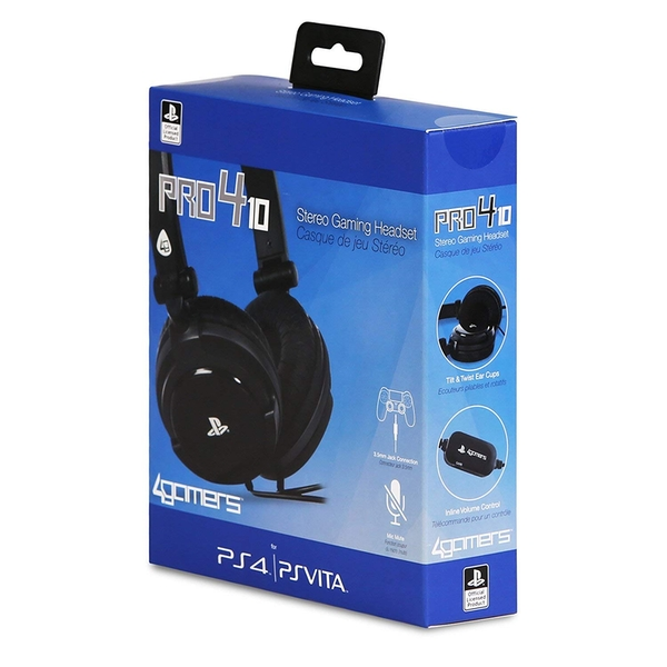 4Gamers Stereo Gaming Headset Dual Format  PS4 & PS Vita [Damaged Packaging] - Image 1