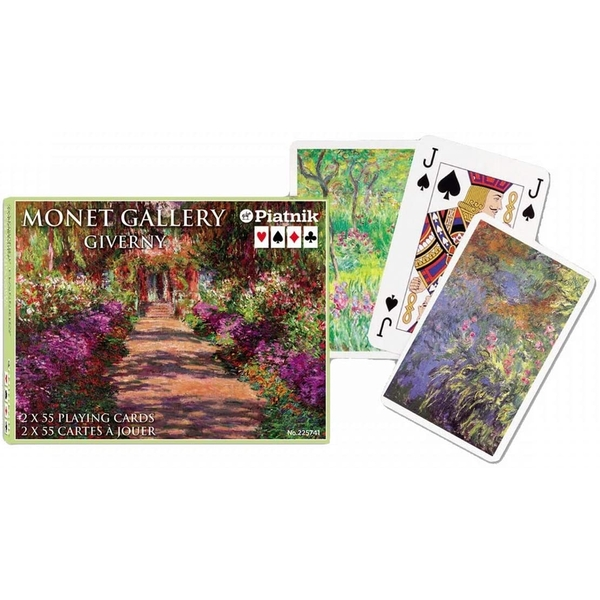 Monet Giverny Bridge Doubles Game Playing Cards