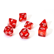 Sirius Dice - Translucent Red Poly Set