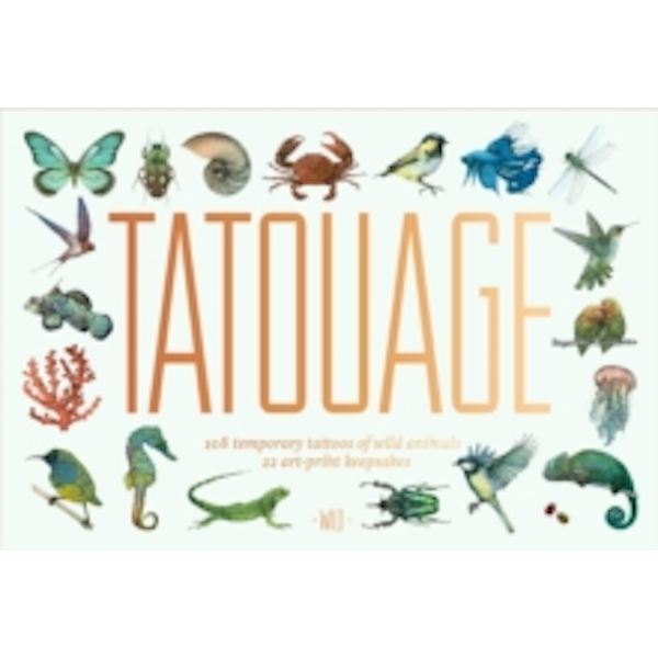 Tatouage: Wild : 108 Temporary Tattoos of Wild Animals and 21 Art-Print Keepsakes