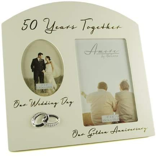 AMORE BY JULIANA? Double Anniversary Frame - 50 Years