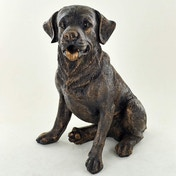 Labrador Sitting Cold Cast Bronze Sculpture