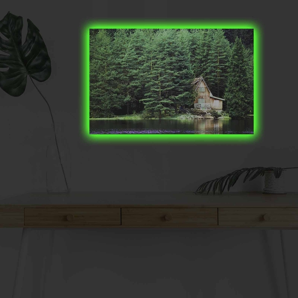 4570DHDACT-157 Multicolor Decorative Led Lighted Canvas Painting
