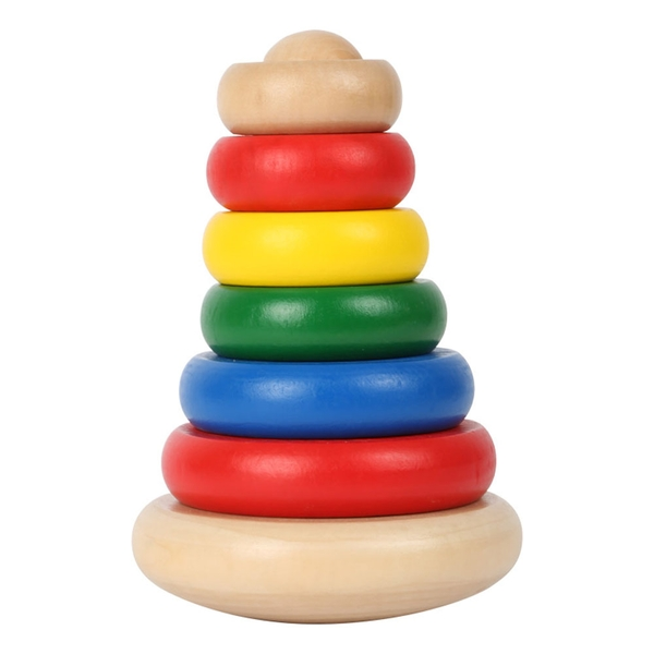 Legler - Small Foot World Wobble Pyramid Wooden Kid's Toy (Multi-colour)