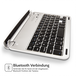 Caseflex iPad Mini German Keyboard - Silver/Black - Image 2