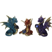 Orb Guardians (Pack Of 3) Dragon Figures