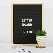 Felt Letter Board 12 x 16 inch with 340 Letters