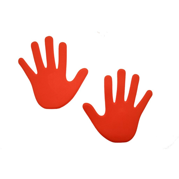 Hand Floor Marker (Pack of 6) Red