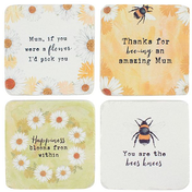 A Daisy Picking Coaster Pack Of 24