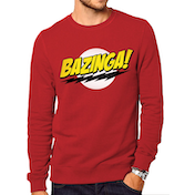Big Bang Theory - Bazinga Men's Large Sweatshirt - Red