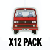 Vanilla/Red VW T3 Bus (Pack Of 12) Air Freshener