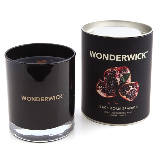 Black Pomegranate (Wonderwick) Noir Glass Country Candle