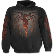 Dragon Furnace Men's Large Hoodie - Black