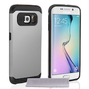 Caseflex Samsung Galaxy S6 Edge Tough Armor - Satin Silver Case
