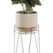 Metal Flower Pot Stand Silver | M&W - Image 3