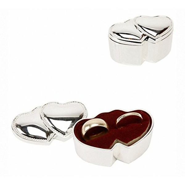Sophia Silverplated Entwined Hearts Ring Box