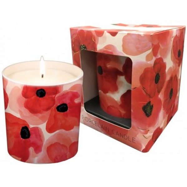 Red Poppy Candle From Turnowsky