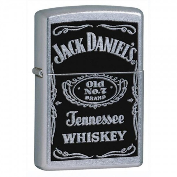 Zippo Jack Daniel's Label Street Chrome Windproof Lighter - Image 1