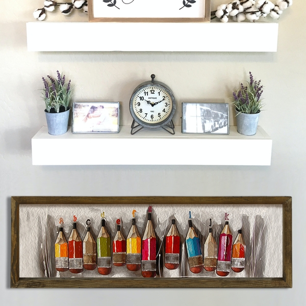 KZM414 Multicolor Decorative Framed MDF Painting