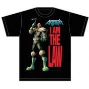 Anthrax I Am The Law Mens Black T-Shirt: X-Large
